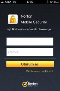 Norton-Mobile-Giris