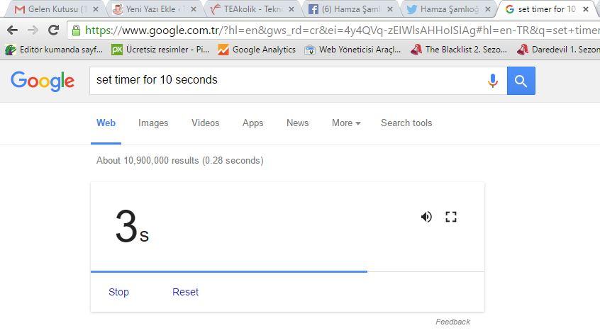 set timer 10 minute