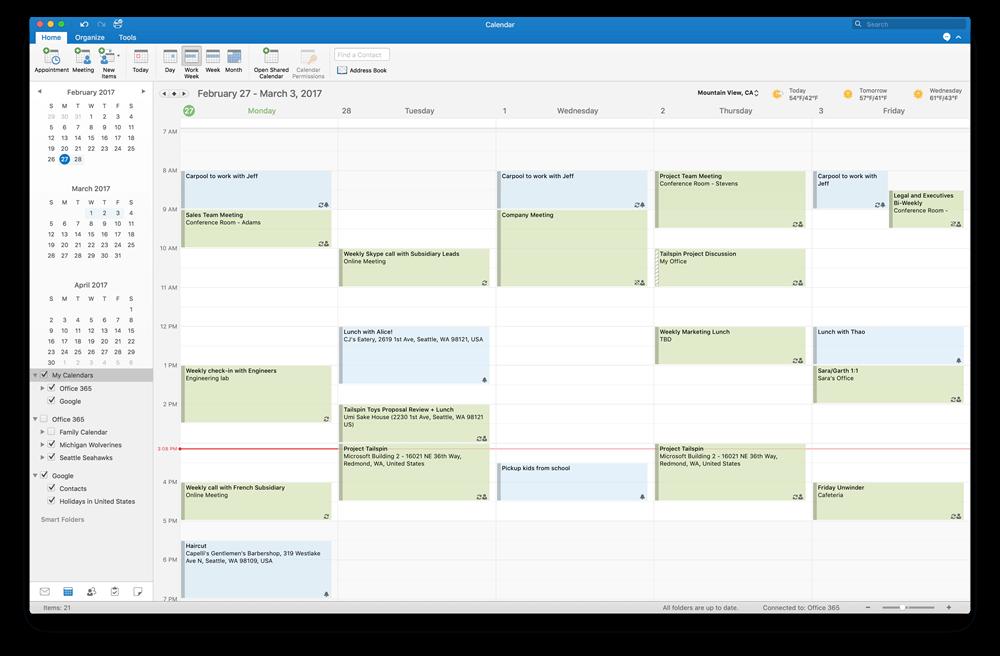 Mac Bilgisayarlarda Outlook 2016 İçin Google Takvim ve Kişiler Desteği Geldi!