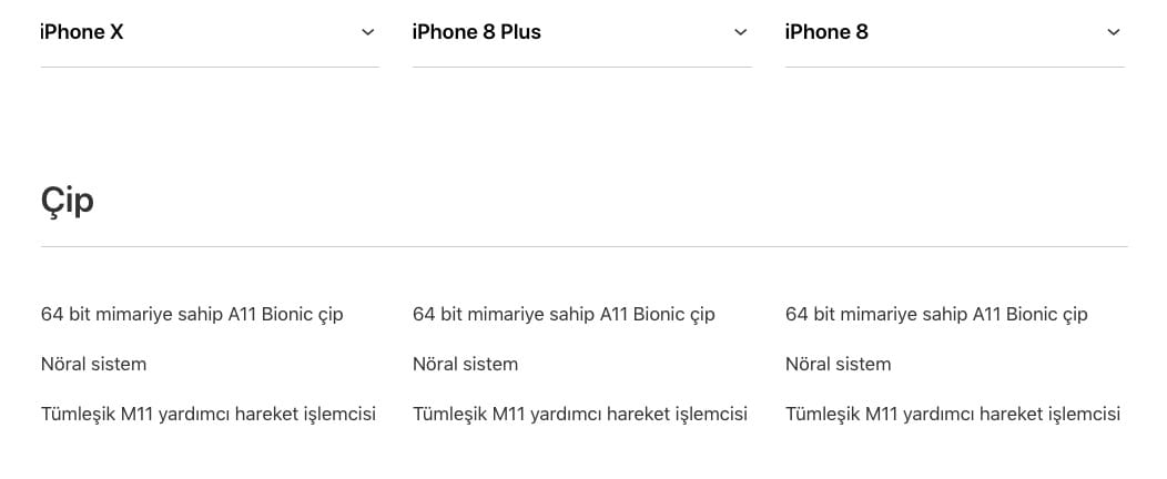 ipohne x iphone 8 mimari