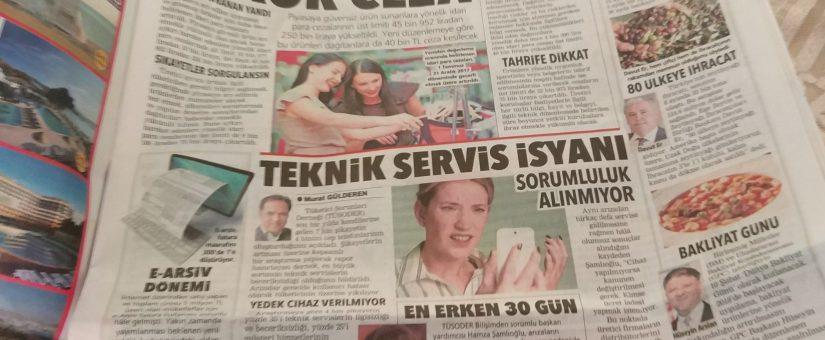 Posta Gazetesi – Teknik Servis İsyanı
