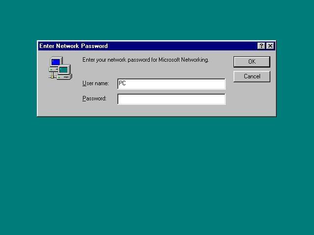Mac OS High Sierra Win 95 Network Password