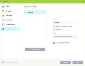 GlassWire Firewall Sunucu Eklemek