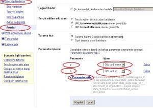 google-parametreler