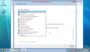 windows7-test-ekran-goruntusu-send-feedback