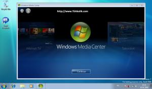 windows7-test-ekran-goruntusu-windows-media-center